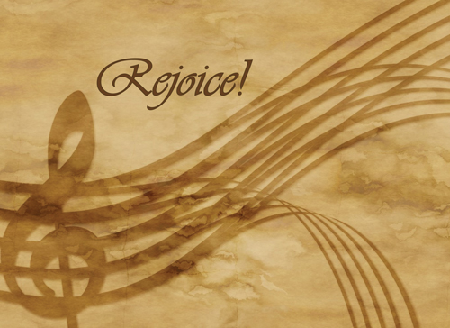 Rejoice! - Christian Note Card (Large) (Pkg of 10)