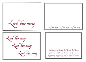 Lord Have Mercy Assortment - Christian Note Card (7