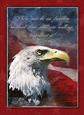 Freedom's Protector - Christian Military Appreciation Greeting Card