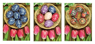 Tulips and Eggs Paschal Note Cards (Assortment of 12)