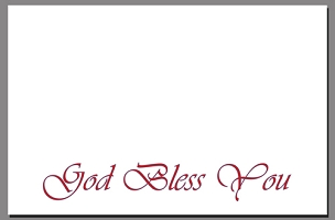 God Bless You - Christian Note Card (Large)
