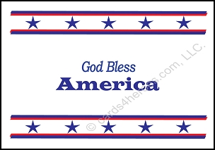 God Bless America - Patriotic Note Card (7